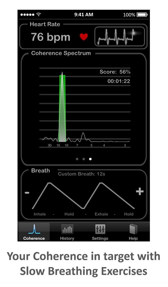 Heart Rate Plus: Your Heart Rate/Breath Coherence
